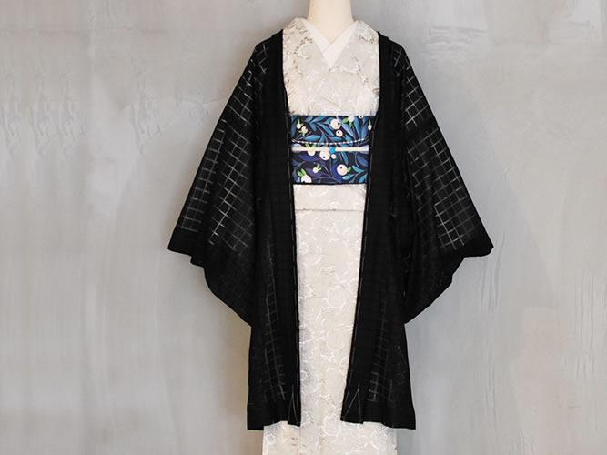【レースの薄羽織】coolな淑女のためのチュールレースーマスカレード(2色)9月中旬お届け