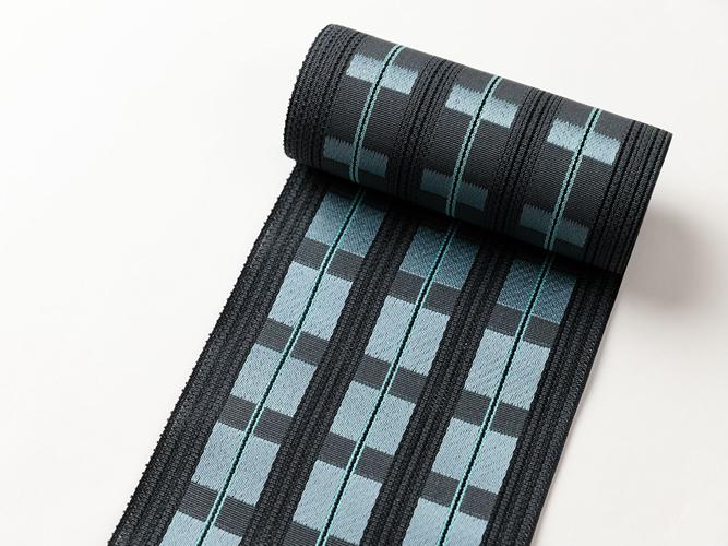 【博多織】 夏の半幅帯 - キャタピラリズム(絹100%)