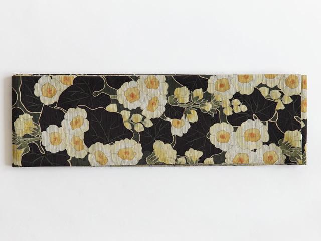 <ご予約品>【召しませ花】リバーシブル半幅帯ー水仙