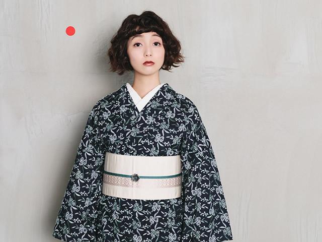 【レース刺繍キモノ】鈴花(F/誂)