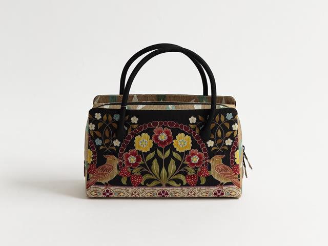 【召しませ花】-利休バッグ-いちごと鳥
