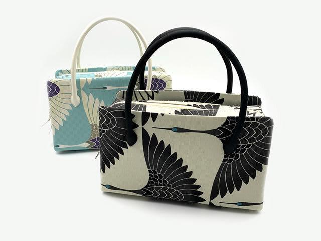 【召しませ花】-利休バッグ-鶴の調べ(2色)