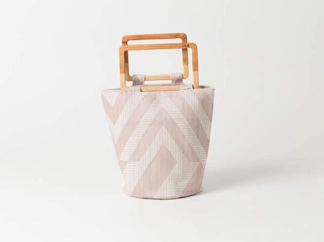 <OLN>ちょっとそこまで、のお出かけにーflowerpot bag (2色・L )
