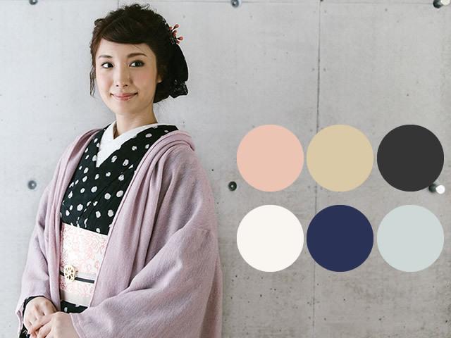七緒掲載品-ふんわり軽くて暖か!スタイリッシュなAラインの着物カーディガン(7色)