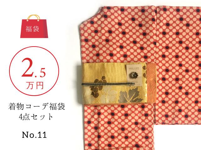 〈福袋No.11〉2020年新春ー2.5万円着物コーデ4点SETー大正ロマンredx葡萄(送料無料・一部地域を除く)2月中旬お届け