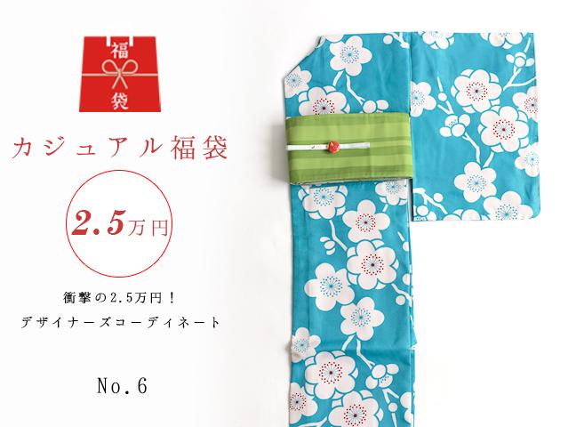 【福袋NO・6】衝撃の2.5万円!デザイナーズコーディネート5点セットー梅POP