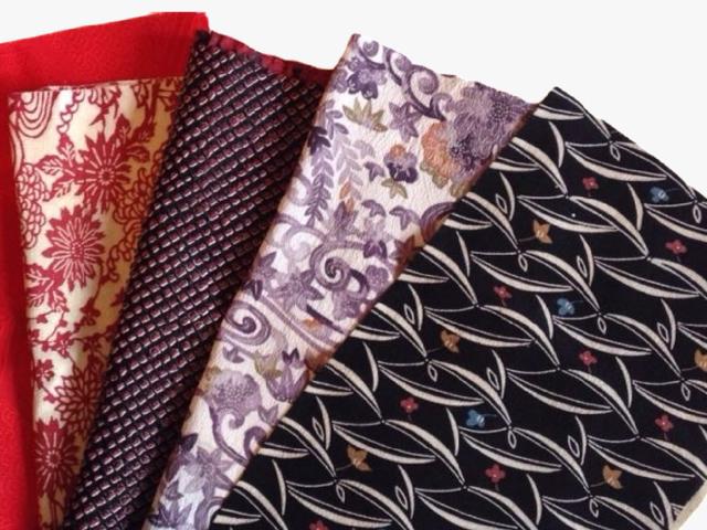 【ハギレSET】手作りに最適!アンティークな古布-Japanese style(正絹10枚入り)