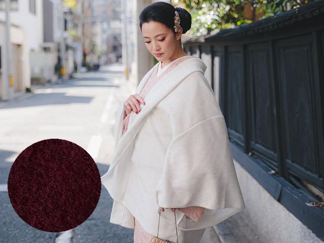 Aラインドレープ着物カーディガン-アンゴラ(2色)