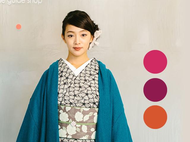 【着物コート】Aラインドレープコート-CANDY(5色)