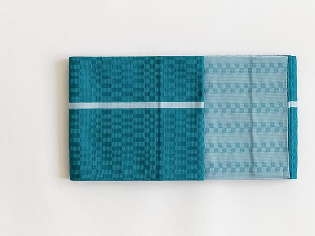 【リバーシブル半幅帯】CHINA BLUE(ポリエステル100%)