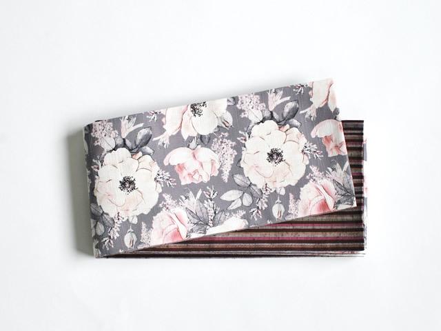 【リバーシブル半幅帯】退屈とうつくしい日々(cotton100%)