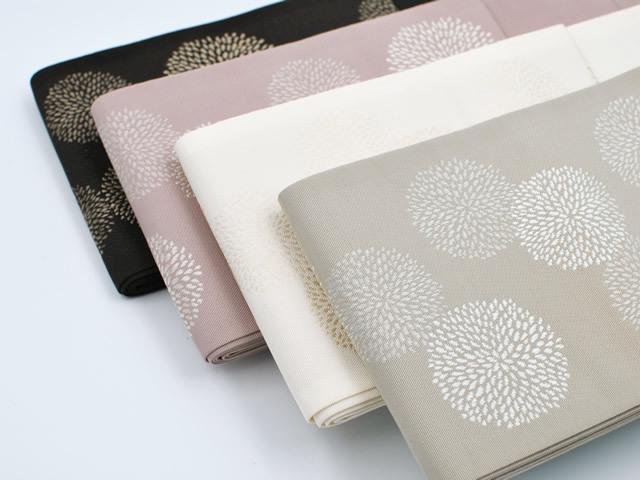 【博多織半幅帯】-小菊(4色・正絹100%)