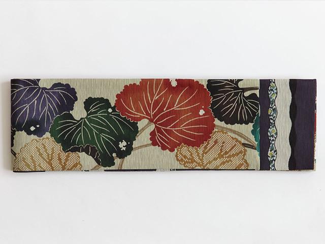 <ご予約品>【召しませ花】リバーシブル半幅帯ー睡蓮