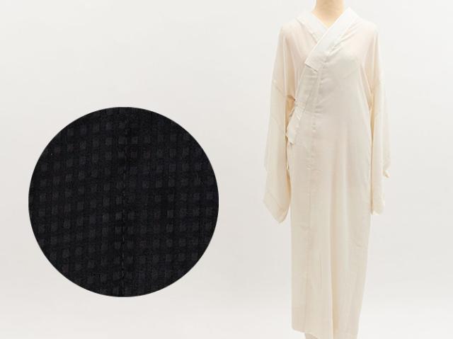 【BASIC & FREEサイズの着物にぴったりの!プレタ長襦袢】 - 格子lespoirレスポワール(2色)