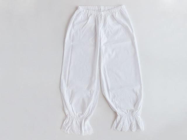 【お姫様御用達】裾しぼりタイプでおトイレ楽々- ドロワーズ・ステテコ(M ・Lサイズ)