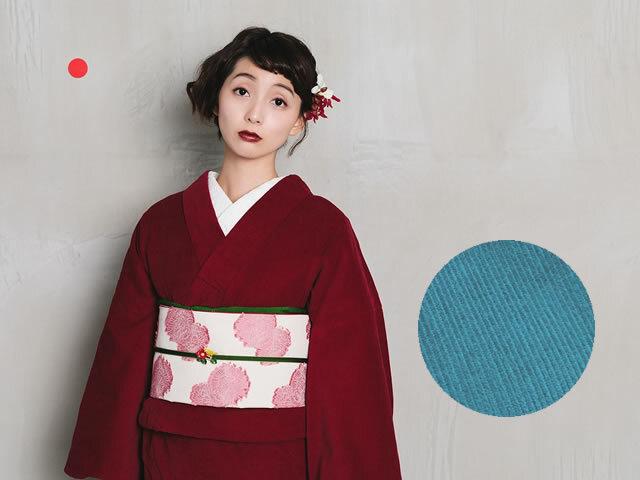 秋冬の定番カジュアル!ドラマチックなコーデュロイ着物(2色)