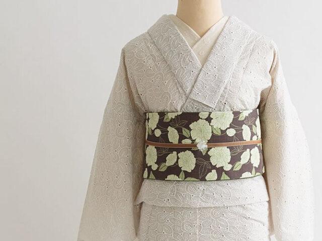【レース着物】mysteriousなペイズリーレース着物-ロマンチカ(綿100%・3色)