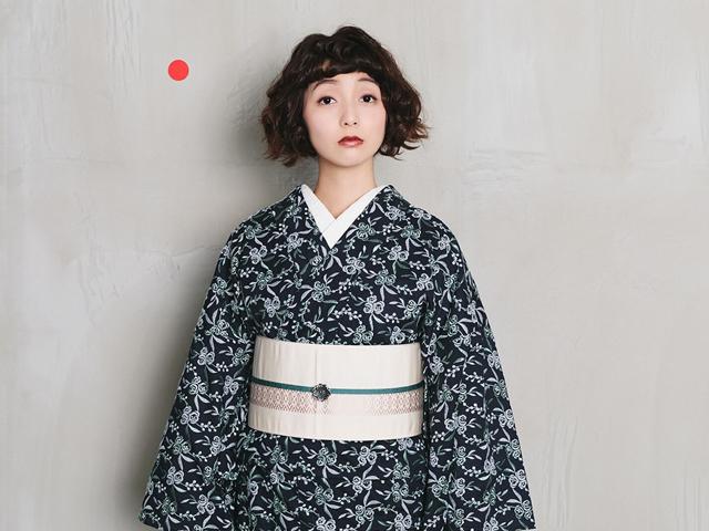 【レンタル】レース着物鈴花+博多織半幅帯-芍薬peony
