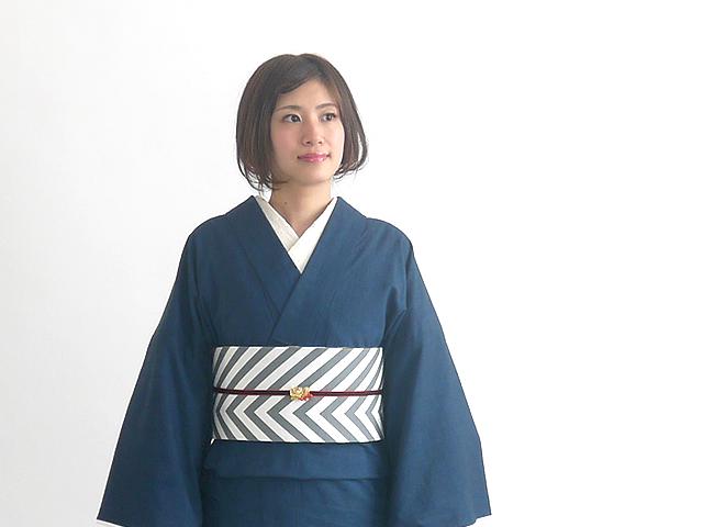 【レンタル】デニム着物禅zen-藍ai+リバーシブル半幅帯-ARROWS(送料無料・2週間レンタル・買取可)