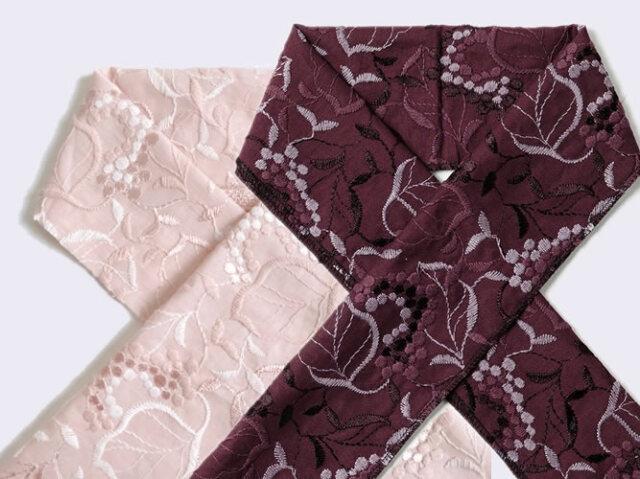 木綿の半衿-葡萄grapes grapes-桃花