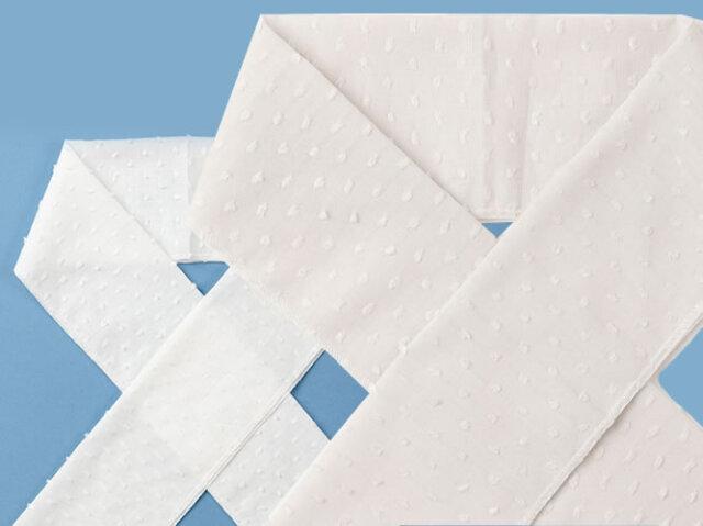 【木綿の半衿】透け感&凹凸が楽しい、dots-dots(2色)