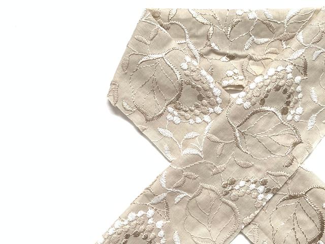 【木綿のお半衿】葡萄 grapes grapes-VEIGE(8月下旬お届け)