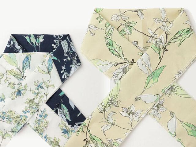 【木綿の半衿】上品でしなやか&洗える - サルビアの花束(3色)