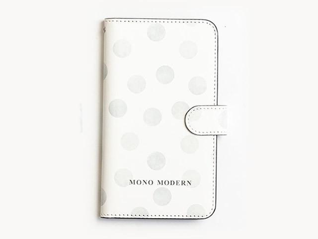 【手帳型マルチスマホケース】MONO MODERN-水玉
