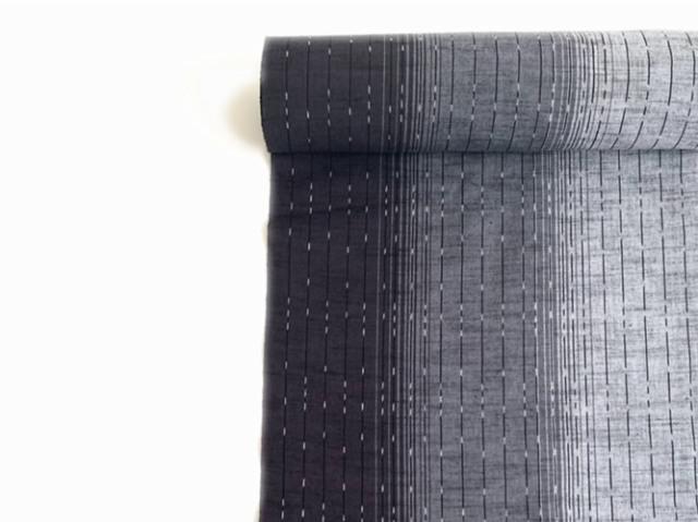 【久留米絣】-現代的な色柄、昔ながらの伝統-Black Rain