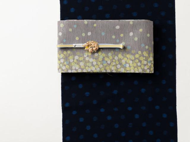 【久留米絣】-現代的な色柄、昔ながらの伝統-BLUE DOTS