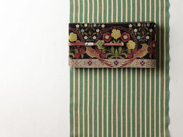 <9/25発売予定!>七緒掲載 【久留米絣】-現代的な色柄、昔ながらの伝統-GREEN×GREEN(綿100%・反/誂)