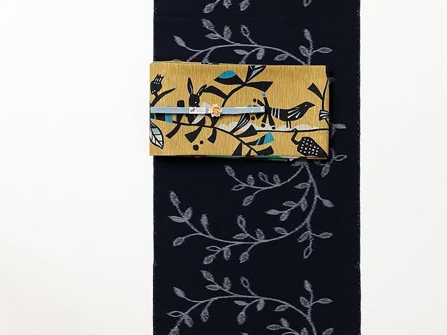 <久留米絣キモノ>現代的な色柄、昔ながらの伝統ー北欧grass