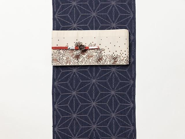 <久留米絣キモノ>現代的な色柄、昔ながらの伝統ーMODERN麻の葉