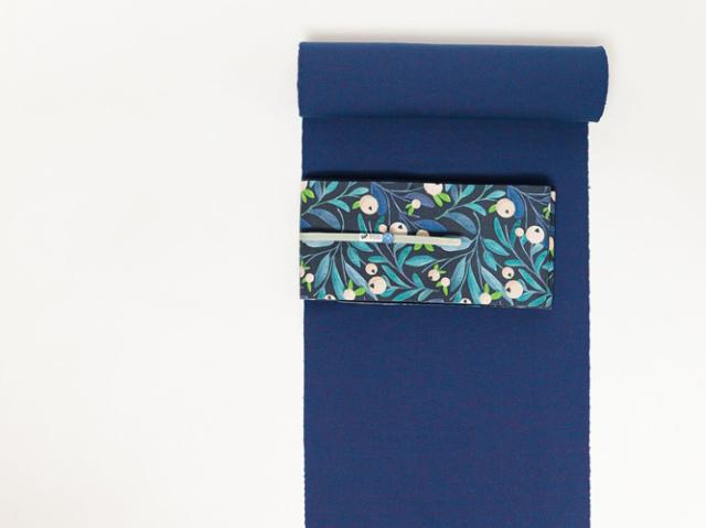 【久留米絣】-現代的な色柄、昔ながらの伝統-瑠璃色の昼下がり
