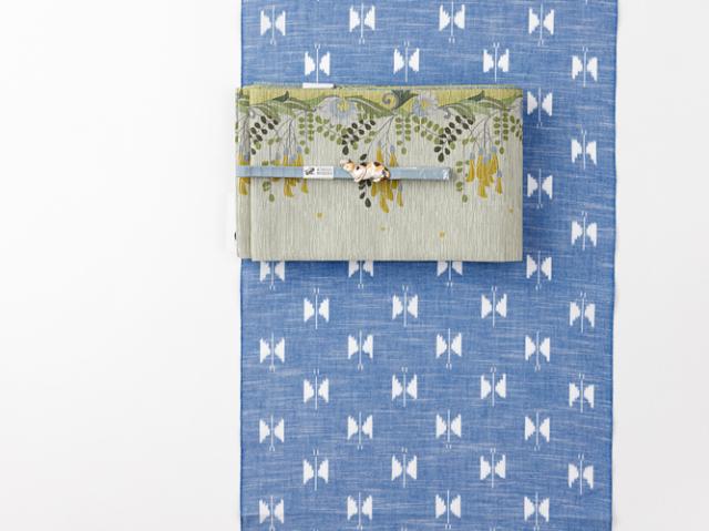 【久留米絣】現代的な色柄、昔ながらの伝統ーお空の蝶々