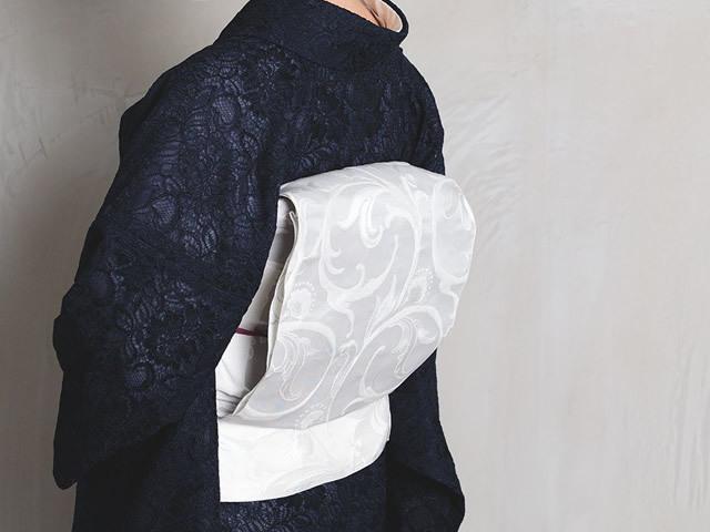 <ご予約品>美しいきもの掲載品-博多織 八寸名古屋帯ーアラベスク(メーカー直送・受注生産品)