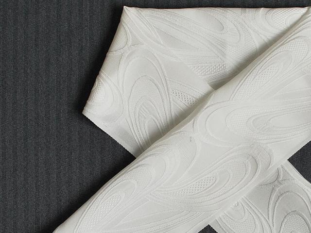 【正絹ふくれ織りお半衿】孔雀-peacock