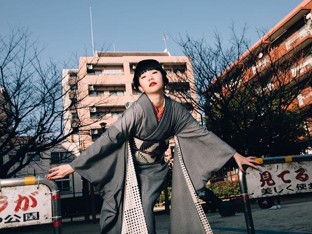 <振袖SETレンタル>MONOx鶴の調べ(1週間レンタル・草履・バック・小物付き)