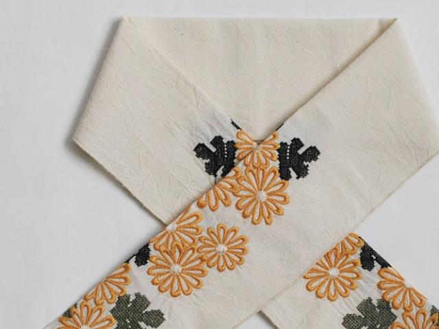 【富士商会】-ペタコさんの刺繍お半衿-菊(2色)