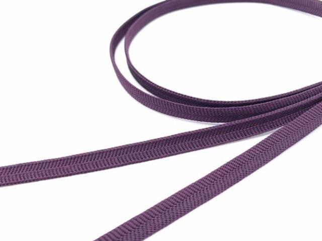 【正絹 三分帯締め】NIPPON COLORS- 紫紺茄子(帯留め用・126cm)