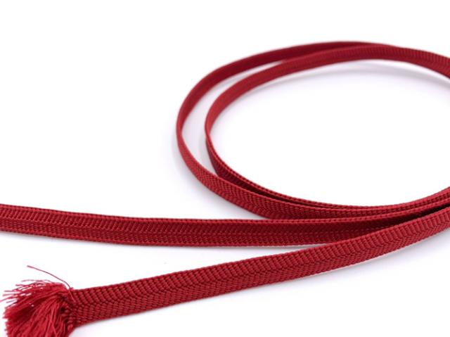 【正絹 三分帯締め】NIPPON COLORS-深紅(帯留め用・126cm)