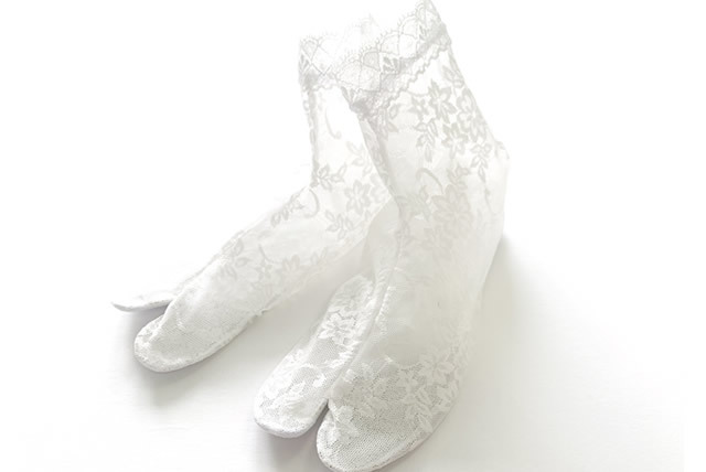 【レース足袋】靴下LIKE&長めがうれしい足首丈 - amanda(M / L)
