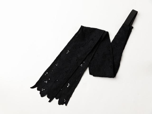 【三連仮紐】 帯結びが簡単に!ヘアターバンや帯揚げ代わりにも!ースカラップ花(2色)
