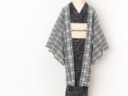 【薄羽織】リネン混オーガンジーの薄羽織-WHITE RIBBON(LONG丈・羽織り紐付き)
