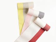 <新作>【博多織】単-夏の博多織半幅帯-BORDERS the moment (3色・絹麻・メーカー直送品)