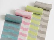 【+LUXE】博多織半幅帯ー拍子木あそび(単・5-9月・正絹100%)