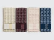【+LUXE】博多織リバーシブル半幅帯 「結」小花ステッチ(4色)<メーカー直送品>