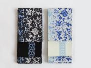 【+LUXE】博多織リバーシブル半幅帯「結」花唐草-COOL(2色)<メーカー直送品>