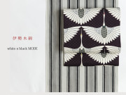 【伊勢木綿】white x black MODE