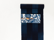 <春のキモノ祭り 3000円OFF>久留米絣-現代的な色柄、昔ながらの伝統-ノスタルジーSTRIPE